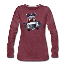 Load image into Gallery viewer, Ice Scream Long-Sleeve T-Shirt (Womens) - heather burgundy