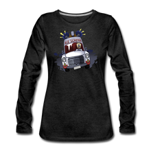 Load image into Gallery viewer, Ice Scream Long-Sleeve T-Shirt (Womens) - charcoal gray