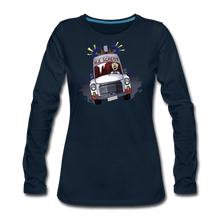 Load image into Gallery viewer, Ice Scream Long-Sleeve T-Shirt (Womens) - deep navy