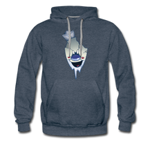 Load image into Gallery viewer, Rod Melting Hoodie (Mens) - heather denim