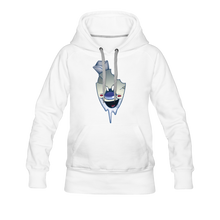 Load image into Gallery viewer, Rod Melting Hoodie (Womens) - white