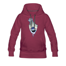 Load image into Gallery viewer, Rod Melting Hoodie (Womens) - burgundy