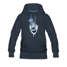 Load image into Gallery viewer, Rod Melting Hoodie (Womens) - navy