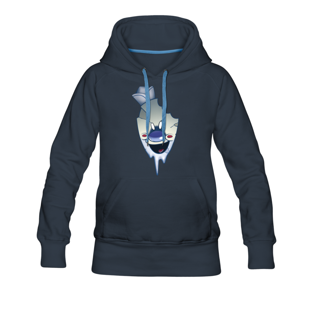 Rod Melting Hoodie (Womens) - navy