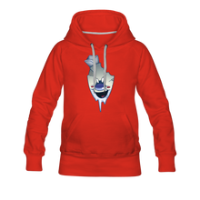 Load image into Gallery viewer, Rod Melting Hoodie (Womens) - red