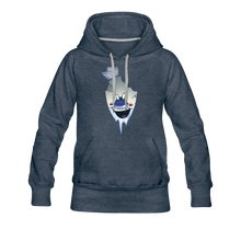 Load image into Gallery viewer, Rod Melting Hoodie (Womens) - heather denim