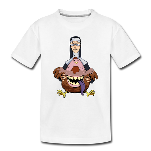 Evil Nun Gummy T-Shirt - white