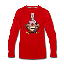 Load image into Gallery viewer, Evil Nun Gummy Long-Sleeve T-Shirt (Mens) - red