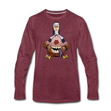 Load image into Gallery viewer, Evil Nun Gummy Long-Sleeve T-Shirt (Mens) - heather burgundy