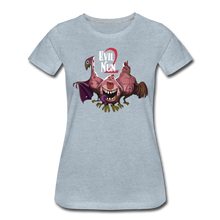 Load image into Gallery viewer, Evil Nun Mutant Chickens T-Shirt (Womens) - heather ice blue