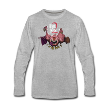 Load image into Gallery viewer, Evil Nun Mutant Chickens Long-Sleeve T-Shirts (Mens) - heather gray