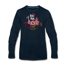 Load image into Gallery viewer, Evil Nun Mutant Chickens Long-Sleeve T-Shirts (Mens) - deep navy
