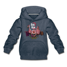 Load image into Gallery viewer, Evil Nun Mutant Chickens Hoodie - heather denim