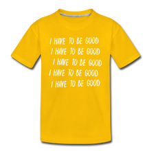 Load image into Gallery viewer, Evil Nun Be Good T-Shirt - sun yellow
