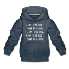Load image into Gallery viewer, Evil Nun Be Good Hoodie - heather denim