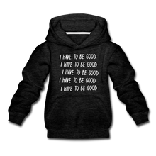 Load image into Gallery viewer, Evil Nun Be Good Hoodie - charcoal gray