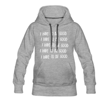 Load image into Gallery viewer, Evil Nun Be Good Hoodie (Womens) - heather gray