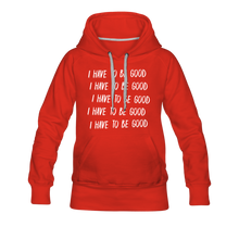 Load image into Gallery viewer, Evil Nun Be Good Hoodie (Womens) - red