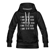 Load image into Gallery viewer, Evil Nun Be Good Hoodie (Womens) - charcoal gray