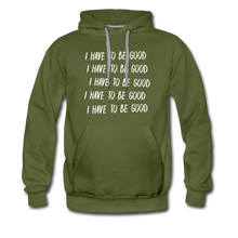 Load image into Gallery viewer, Evil Nun Be Good Hoodie (Mens) - olive green