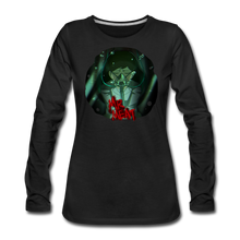Load image into Gallery viewer, Mr. Meat Amelia Long-Sleeve T-Shirt (Womens) - black