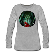 Load image into Gallery viewer, Mr. Meat Amelia Long-Sleeve T-Shirt (Womens) - heather gray