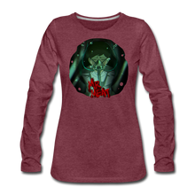 Load image into Gallery viewer, Mr. Meat Amelia Long-Sleeve T-Shirt (Womens) - heather burgundy