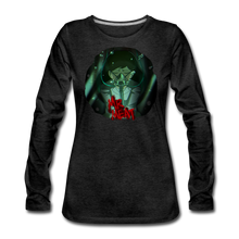 Load image into Gallery viewer, Mr. Meat Amelia Long-Sleeve T-Shirt (Womens) - charcoal gray