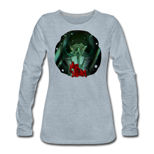 Load image into Gallery viewer, Mr. Meat Amelia Long-Sleeve T-Shirt (Womens) - heather ice blue