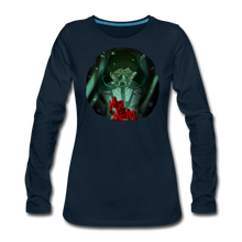 Load image into Gallery viewer, Mr. Meat Amelia Long-Sleeve T-Shirt (Womens) - deep navy