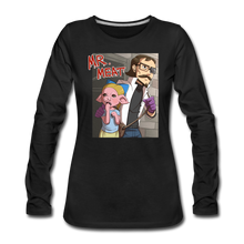 Load image into Gallery viewer, Mr. Meat Hybrid Long-Sleeve T-Shirt (Womens) - black