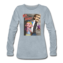 Load image into Gallery viewer, Mr. Meat Hybrid Long-Sleeve T-Shirt (Womens) - heather ice blue