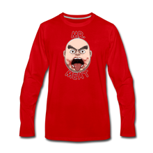 Load image into Gallery viewer, Mr. Meat Meathead Long-Sleeve T-Shirt (Mens) - red