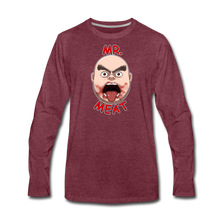 Load image into Gallery viewer, Mr. Meat Meathead Long-Sleeve T-Shirt (Mens) - heather burgundy