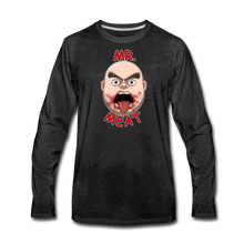 Load image into Gallery viewer, Mr. Meat Meathead Long-Sleeve T-Shirt (Mens) - charcoal gray