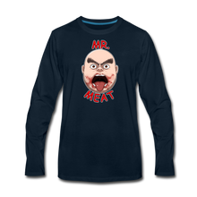 Load image into Gallery viewer, Mr. Meat Meathead Long-Sleeve T-Shirt (Mens) - deep navy
