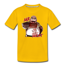 Load image into Gallery viewer, Mr. Meat T-Shirt - sun yellow