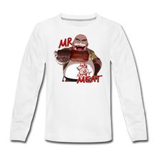 Load image into Gallery viewer, Mr. Meat Long-Sleeve T-Shirt - white