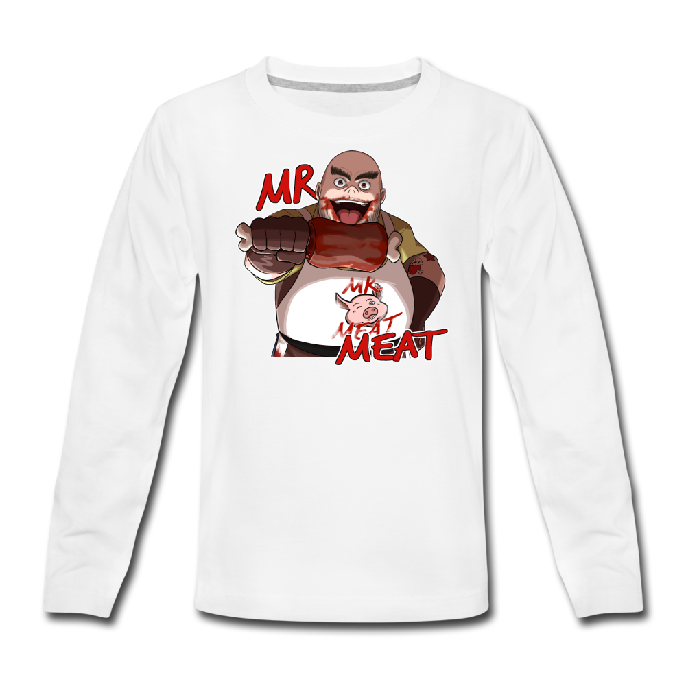 Mr. Meat Long-Sleeve T-Shirt - white