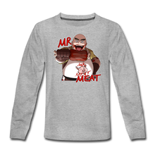 Load image into Gallery viewer, Mr. Meat Long-Sleeve T-Shirt - heather gray