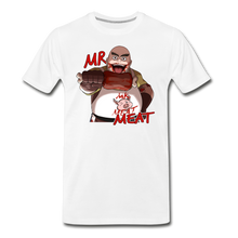Load image into Gallery viewer, Mr. Meat T-Shirt (Mens) - white