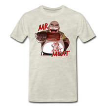 Load image into Gallery viewer, Mr. Meat T-Shirt (Mens) - heather oatmeal