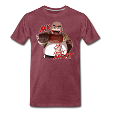 Load image into Gallery viewer, Mr. Meat T-Shirt (Mens) - heather burgundy