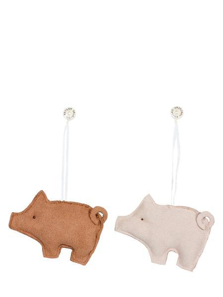 Maileg | Pig Ornaments - Set of Pink and Brown Pig-Scandikid