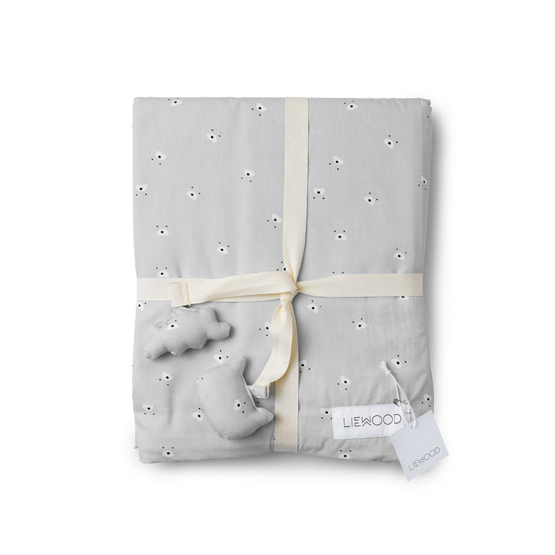 Liewood | Cot Bedding Cat Mr Bear Dumbo Grey-Scandikid