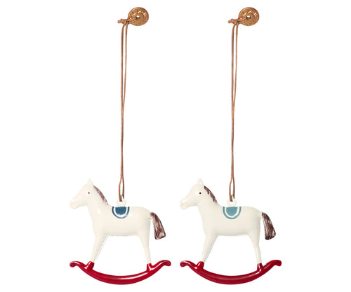 Maileg | Metal Rocking Horse Ornaments-Scandikid