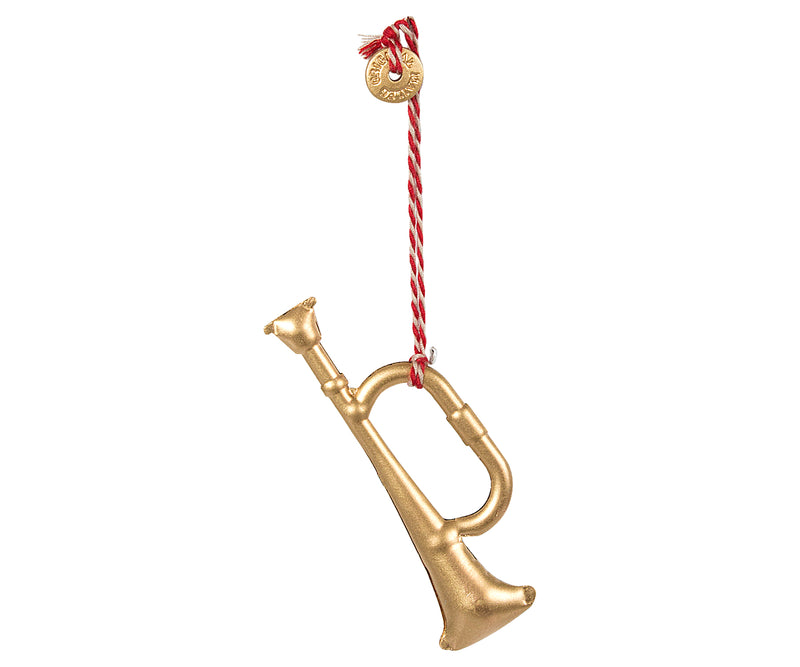 Maileg | Metal Trumpet Ornament-Scandikid