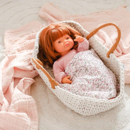 Astrup | Knitted Doll Basket and Bedding Set-Scandikid