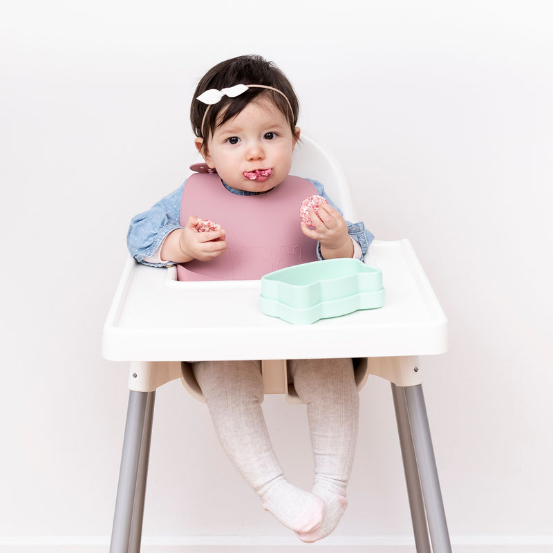 We Might Be Tiny | Catchie Bibs Dusty Rose + Powder Pink (2 Pack)-Scandikid