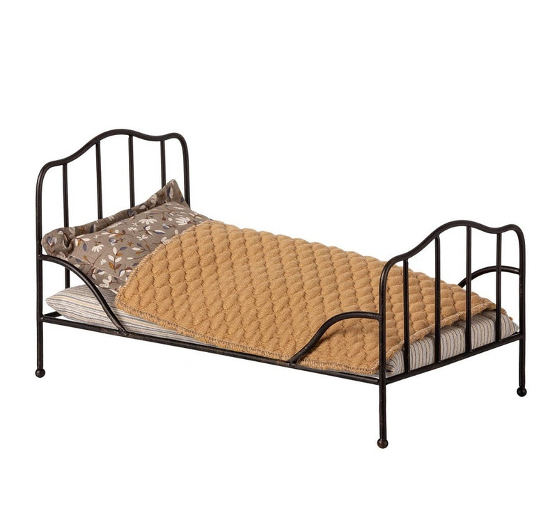 Maileg | Vintage Bed Mini Anthracite-Scandikid